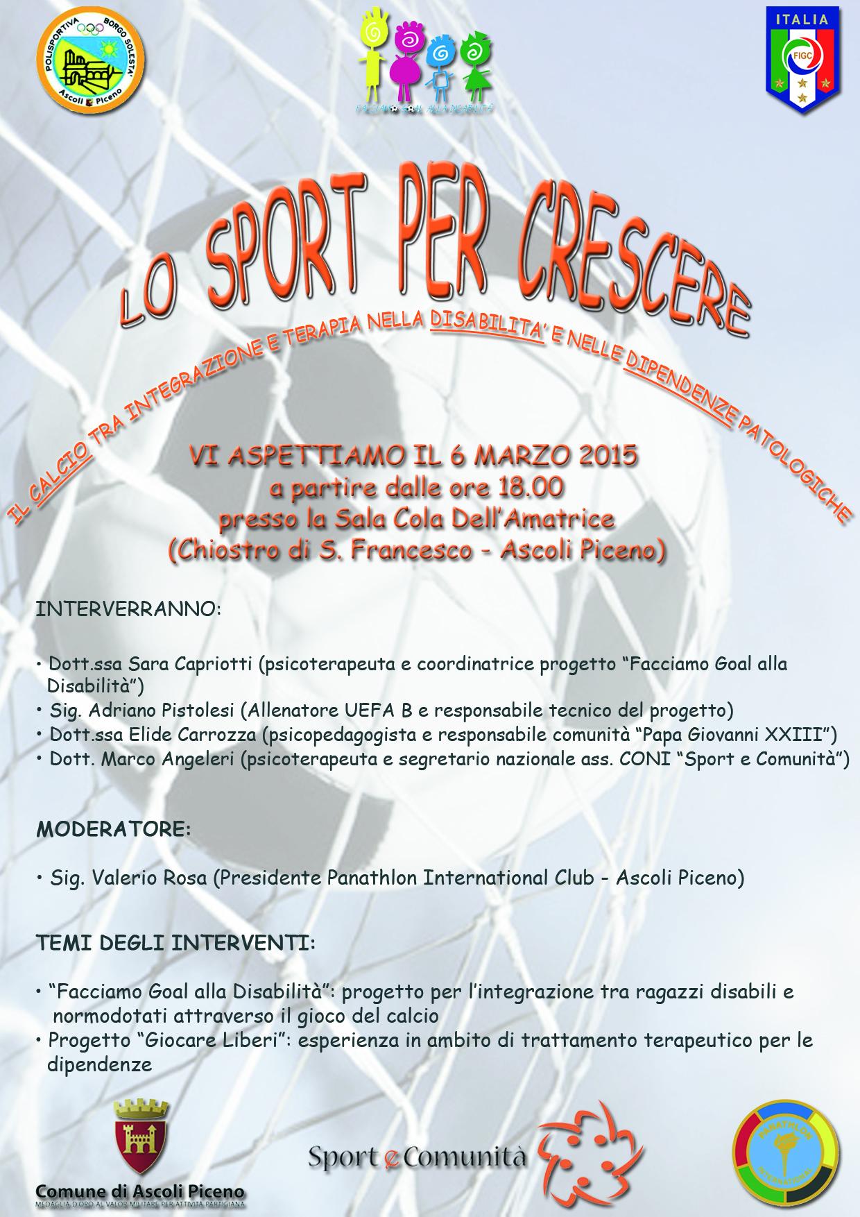 Lo Sport per Crescere – 6 marzo 2015 Ascoli Piceno